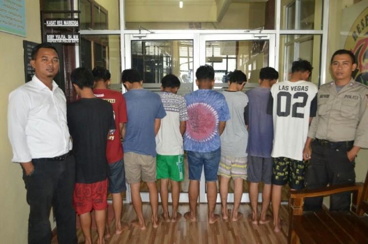 Satresnarkoba Polres Tulangbawang Tangkap 8 Pelaku Penyalahgunaan Narkotika