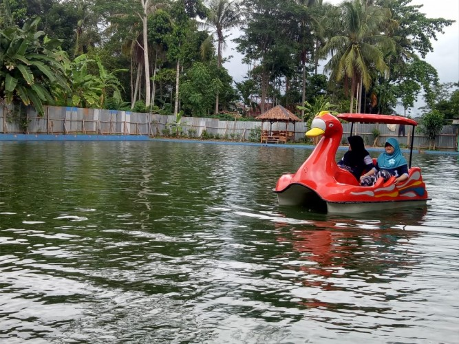 Saung Khansa, Wahana Air Baru di Lereng Gunung Rajabasa