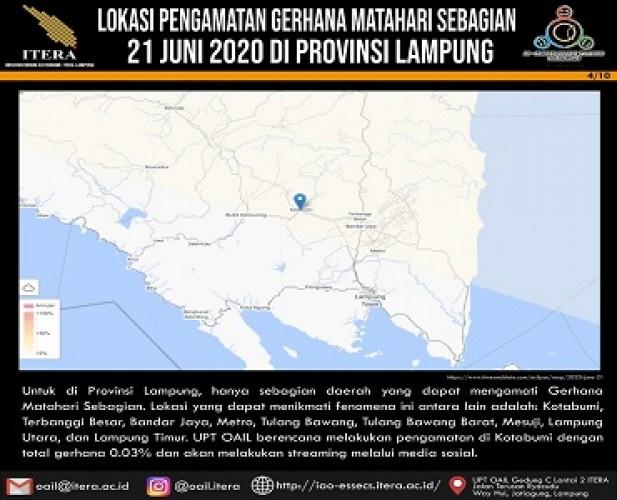 Sebagian Warga Lampung Bisa Melihat Gerhana Matahari Cincin