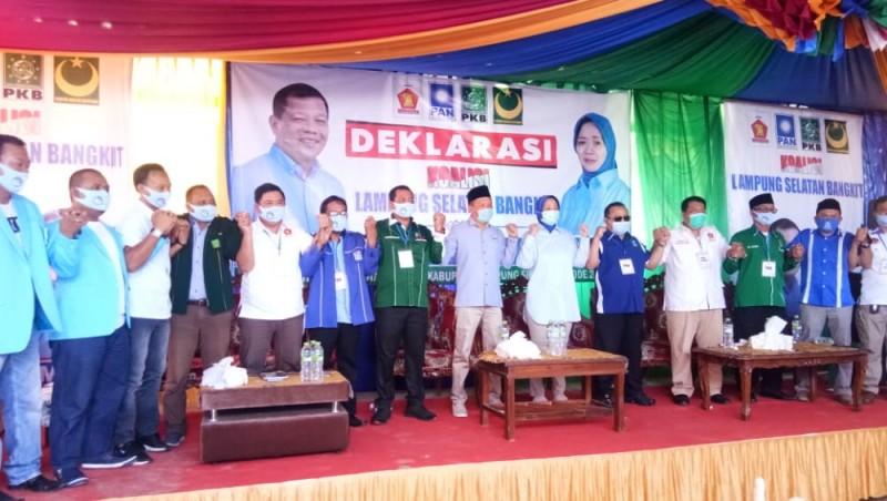 Sebelum Daftar di KPU, Hipni-Melin Deklarasi Koaliasi Lampung Selatan Bangkit