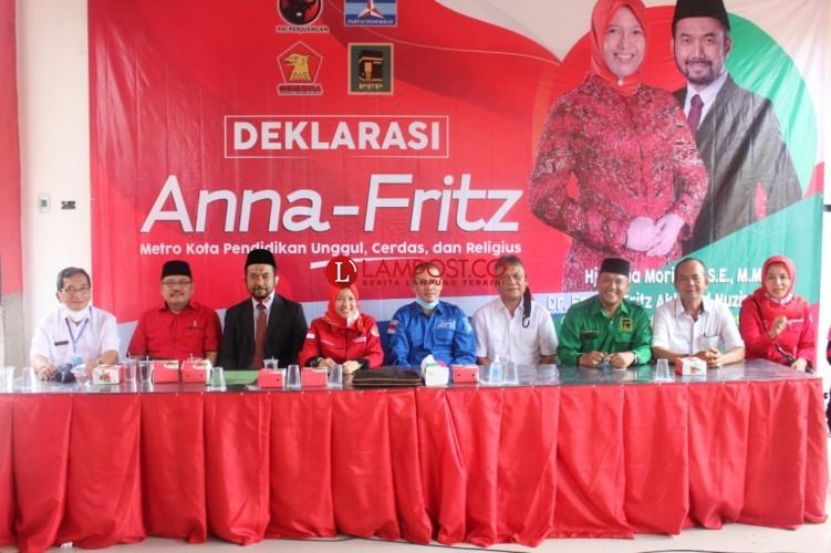 Sebelum Daftar ke KPU, Anna-Fritz Gelar Deklarasi