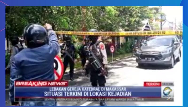 Sedikitnya 10 Orang Jadi Korban Ledakan di Gereja Katedral Makassar