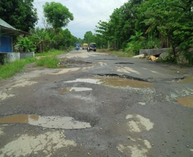 Sejumlah Jalan di Lamsel Rusak padahal Baru Diperbaiki