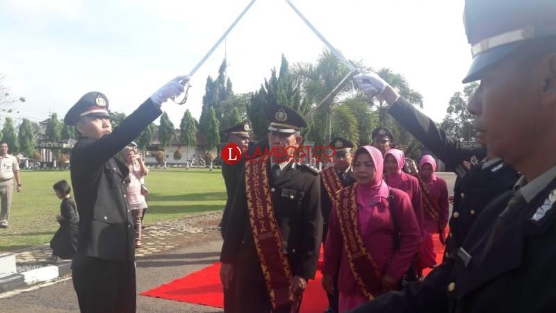 Sejumlah Perwira Polres Lampung Utara Purna Tugas