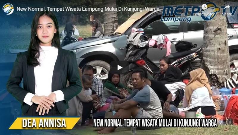 Sejumlah Tempat Wisata di Lampung Mulai Dikunjungi Warga