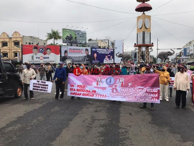 Sejumlah Warga Lampung Tolak FPI dan Rizieq Shihab