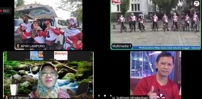 Sekda Gowes bareng APWI Lampung