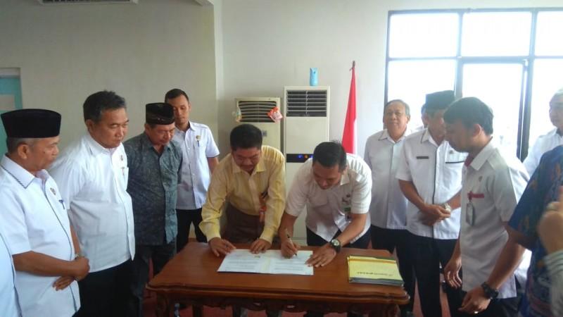 Sekkot Bandar Lampung Hadiri MoU Bank Pasar dan Koperasi