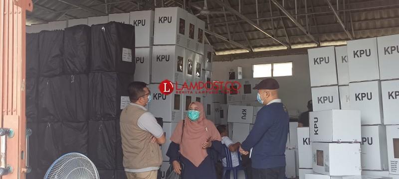 Seluruh Logistik Pilkada Way Kanan Sudah Tiba