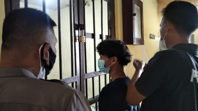 Seorang Pelajar SMP Tertangkap Mencuri Tabung Gas