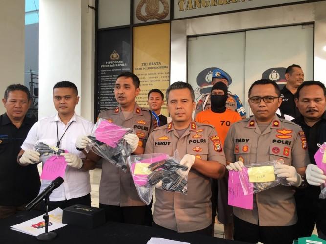 Seorang Youtuber di Tangerang Jadi Perakit Senjata Api