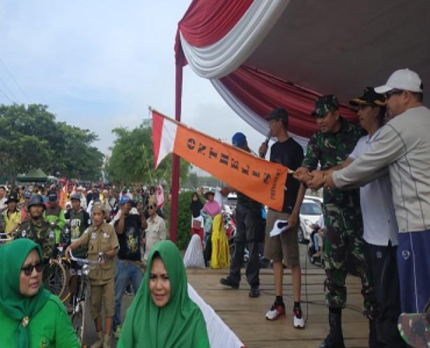 Sepeda Ontel Ramaikan Peringatan Hari Juang di Pringsewu