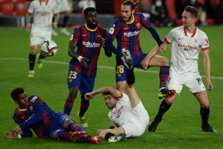 Sevilla Kalahkan Barcelona 2-0 di Leg 1 Semifinal Copa del Rey