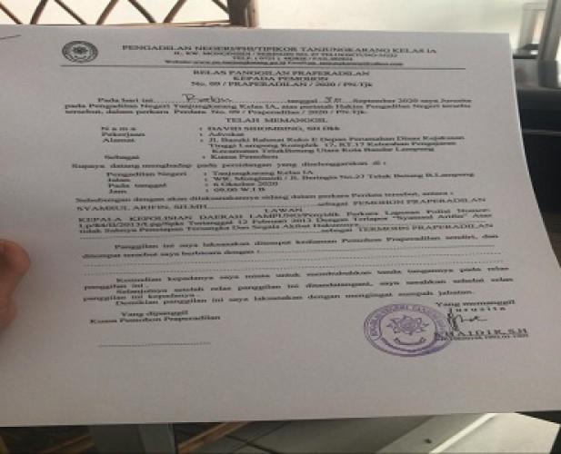 Sidang Praperadilan yang Diajukan Syamsul Arifin Digelar Pekan Depan