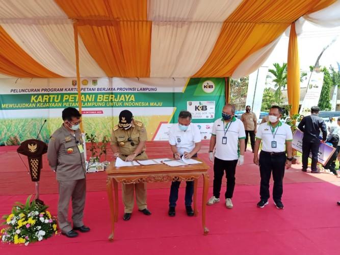 Sinergi BNI dan Pemprov Lampung Sejahterakan Petani melalui Aplikasi Digital dan KPB