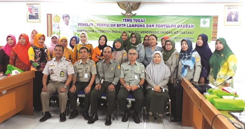 Sinergikan Program, BPTP  Lampung Temu Tugas Peneliti-Penyuluh