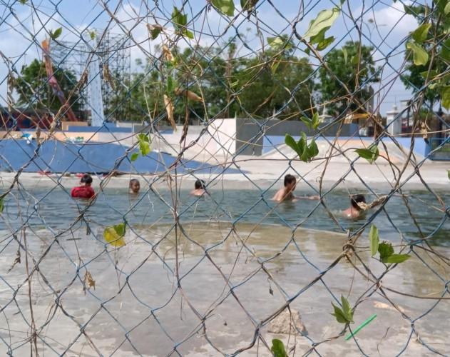 Skatepark PKOR Wayhalim Jadi Waterpark