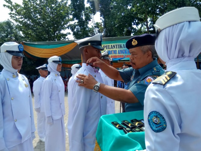 SMKN 6 Bandar Lampung Lantik 247 Taruna Baru