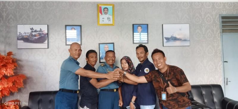 SMSI Lampura Gelar Audiensi Perdana Bersama Kakimal Lampung