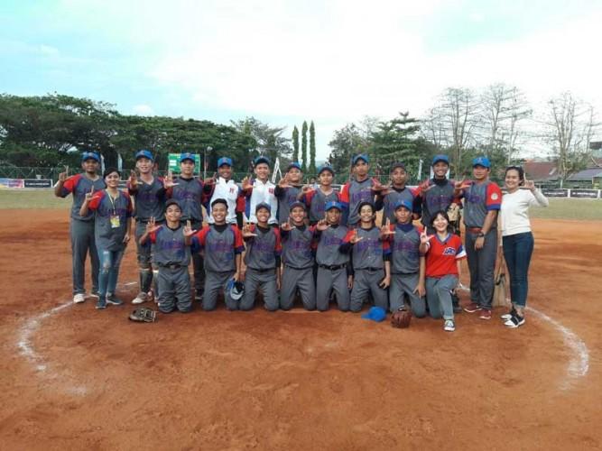 Sofbol Putra Lampung Belum Terbendung di Kejurnas U-18