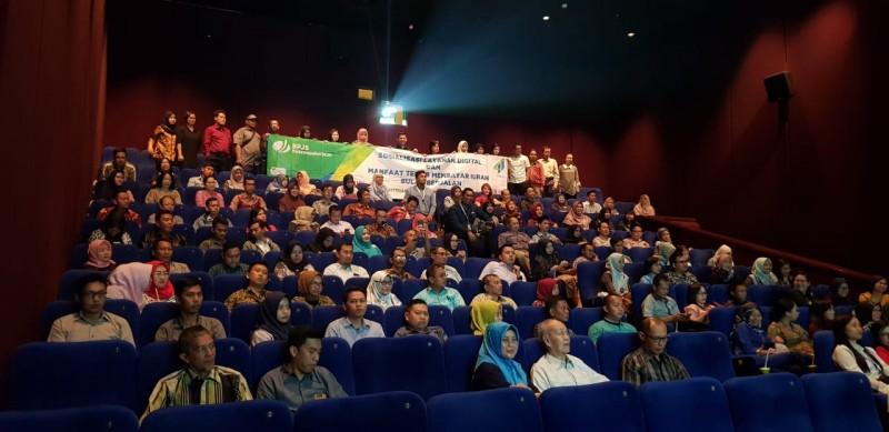 Sosialisasikan Layanan Digital dan Program, BPJSTK Gelar Nonton Bareng di Bioskop