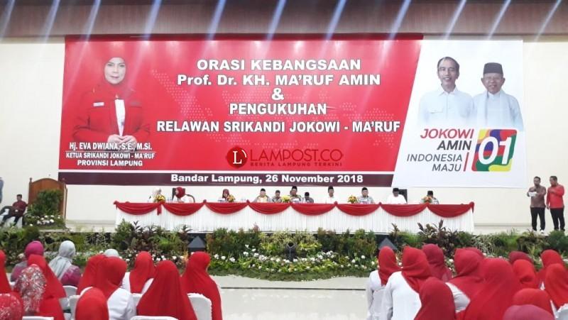 Srikandi Lampung Door to Door Menangkan Jokowi-Ma'ruf