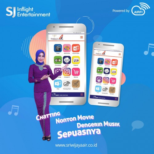 Sriwijaya Air Group Lengkapi Wireless Inflight Saat Terbang