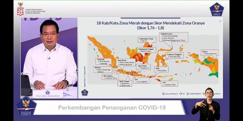 Status Zona Bandar Lampung Berpotensi Turun