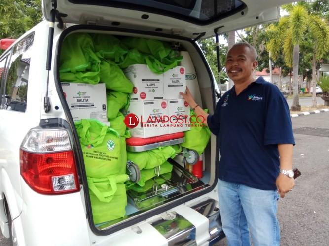 Stok Pemberian Makanan Tambahan Balita Tersedia bagi Korban Tsunami