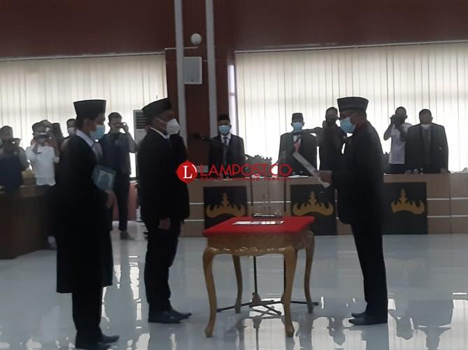Sudibyo Putra Dilantik Jadi Anggota PAW DPRD Kota