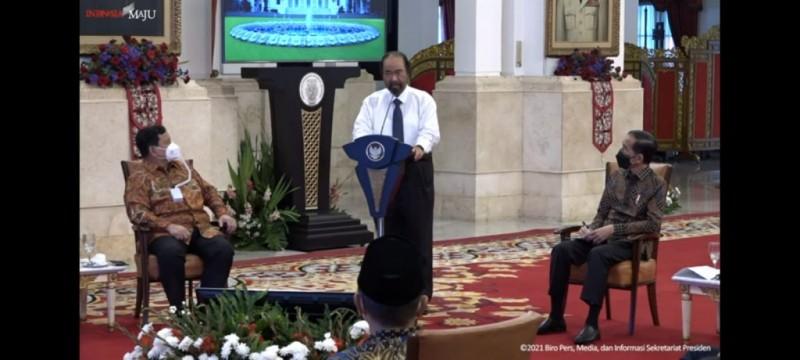 Surya Paloh Apresiasi Upaya Keras Jokowi Kendalikan Covid-19