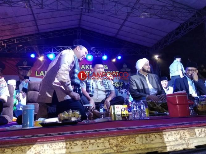 Syech Abdul Qodir Assegaf Berpantun buat Kapolda Lampung