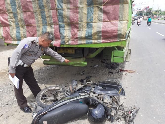 Tabrak Truk Parkir, Pemuda di Natar Tewas