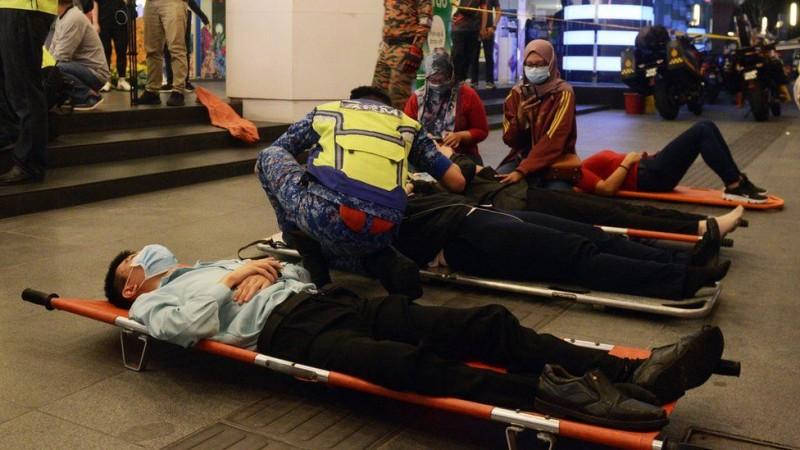 Tabrakan Kereta Metro Malaysia, Ratusan Penumpang Terluka