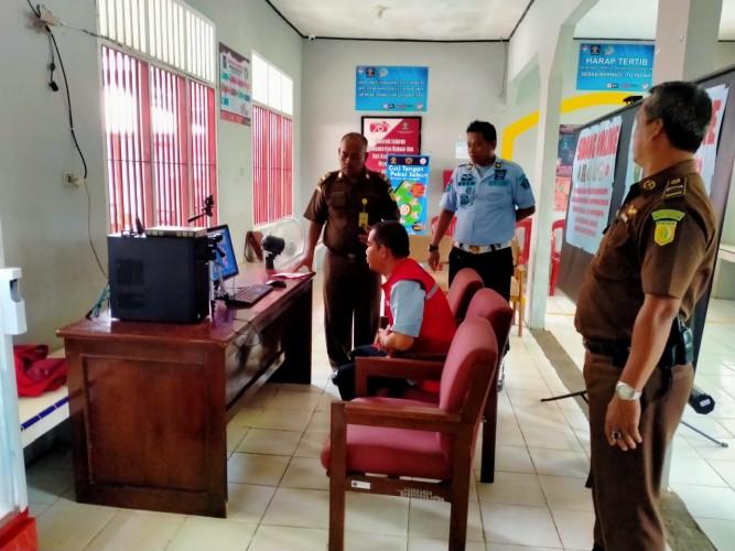 Tahanan di Lampura Jalani Sidang Online Guan Cegah Covid-19