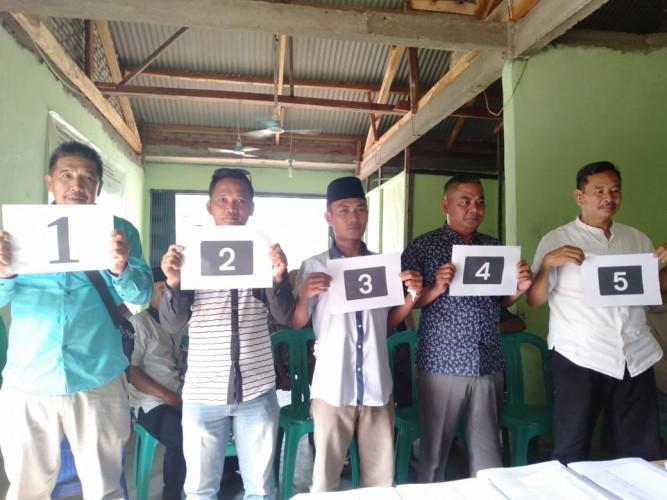 Tahapan Pilkades, Desa Ketapang undi Nomor Urut
