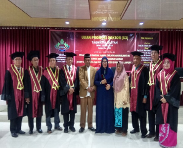 Taqwatul Uliyah Jadi Lulusan Doktor Ke-96 UIN Raden Intan