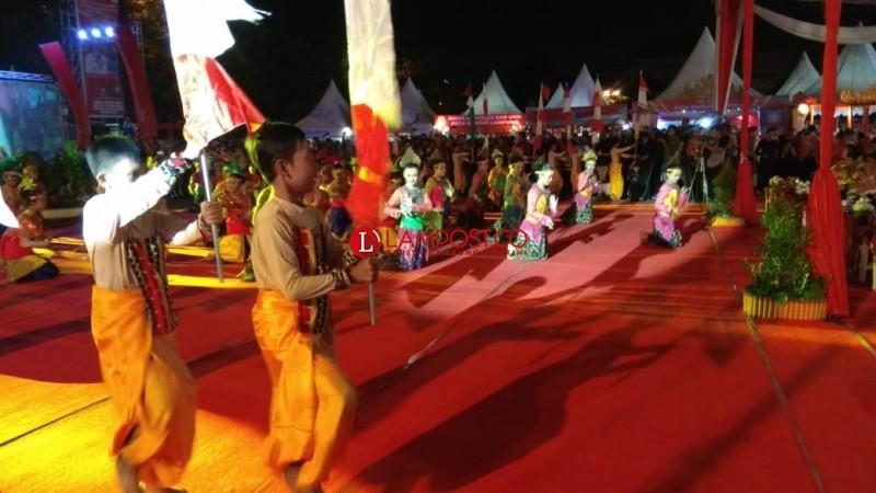 Tari-Tarian Awali Pembukaan Begawi dan Bandar Lampung Expo