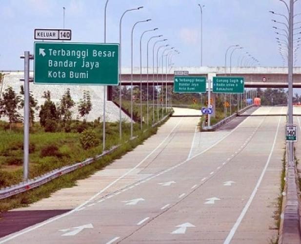 Tarif Tol Lampung Normal saat Nataru