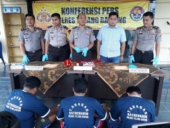 Tekab 308 Polres Tulangbawang Ungkap Sindikat Pencurian Lintas Provinsi