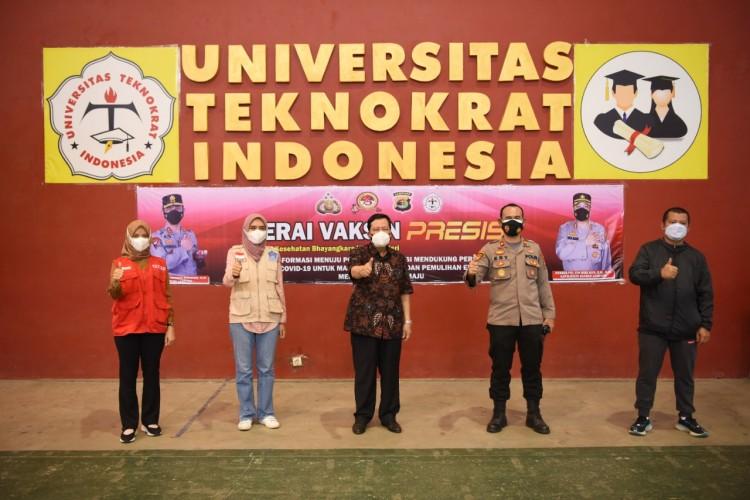 Teknokrat Kembali Ditunjuk Polda Lampung sebagai Sentra Vaksinasi