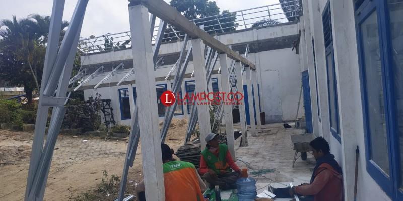 Telan Anggaran Hampir Setengah Miliar, Renovasi Kantor BPP Bandar Lampung Jadi Sorotan