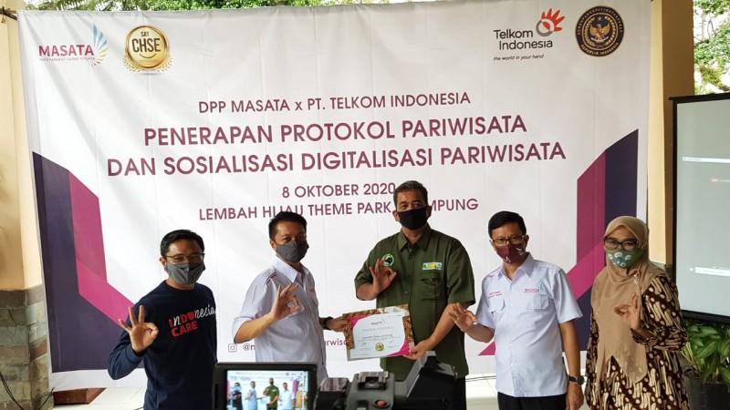 Telkom-DPP MASATA Jalin Kerja Sama Dukung Wisata Lembah Hijau di Tengah Pandemi