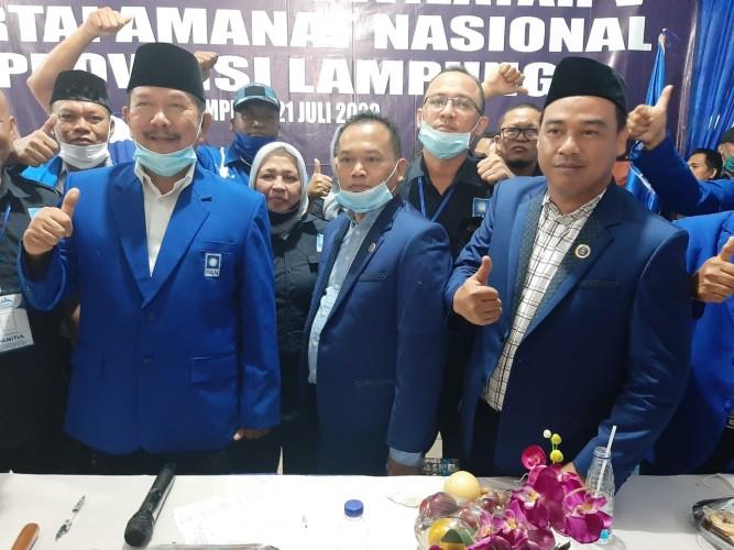 Terpilih Aklamasi, Irham Jafar Pimpin DPW PAN Lampung