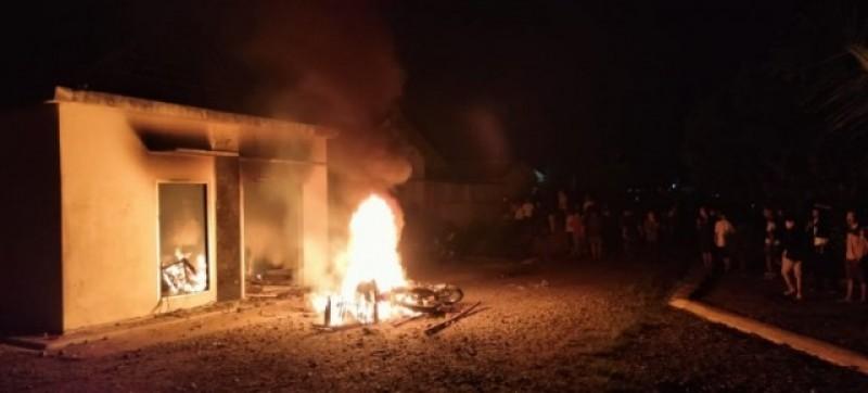 Tersangka Pembakaran Polsek Candipuro Dijerat Pasal Perusakan dan UU ITE