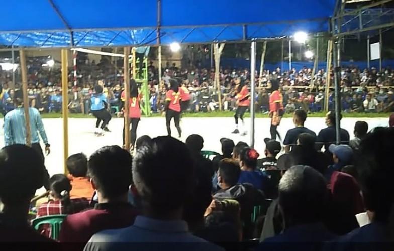Tidak Patuh Prokes, Turnamen Bola Voli di Bumirestu Dihentikan Polisi
