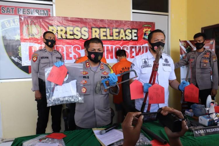 Tiga dari Enam Komplotan Pembobol Minimarket di Pringsewu Dibekuk di Tangerang