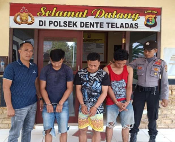 Tiga Pencuri Digerebek saat Beraksi di Areal Tambak