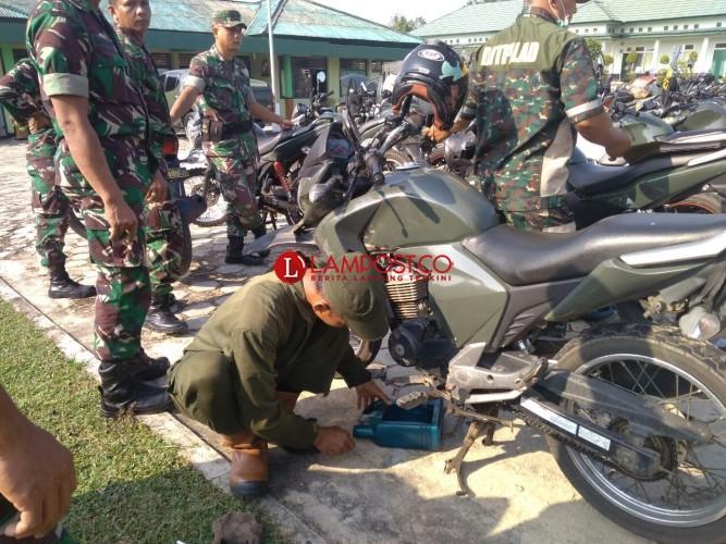 Tim Asnik Denpal II/3 Bandar Lampung Sambangi Kodim 0427/Way Kanan