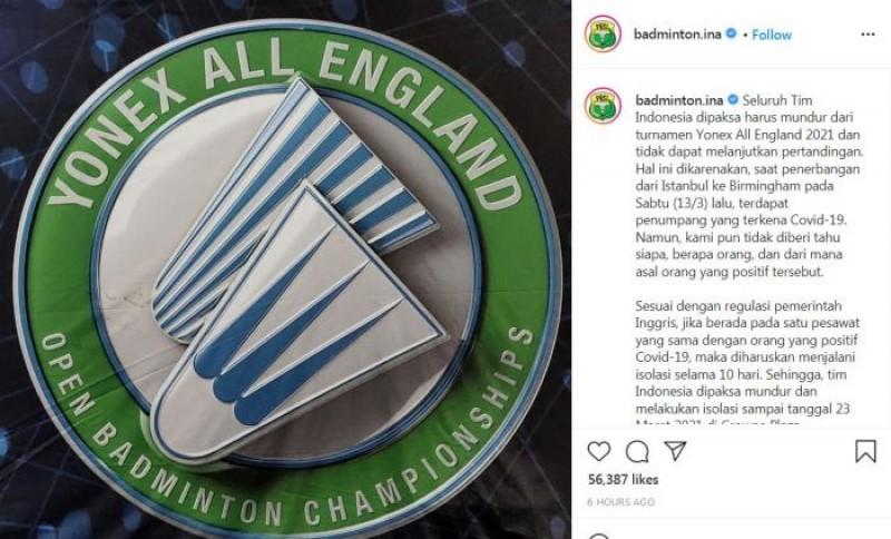 Tim Indonesia Banjir Dukungan Setelah Dipaksa Mundur dari All England